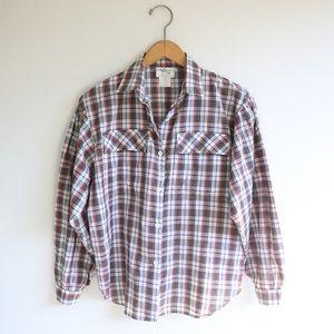 vintage button up plaid shirt